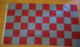 Claret and Blue Checkered Large Flag - 5' x 3'.